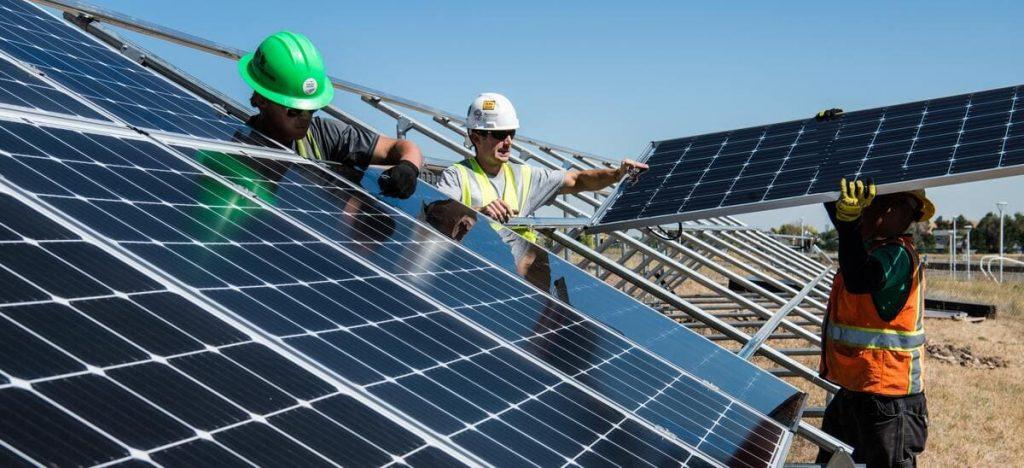recyclage panneaux solaire